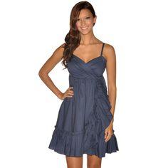 Navy flirty dress