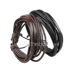 Bracelet+Wrap+Bracelet+Leather+Bracelet+Adjustable+Rope+Brown+and+Black+Unisex+Cuff+Bracelet+Bangles+Multilayer+Wrist+Band+20+5cm+-+USD+$0.99+!+HOT+Product!+A+hot+product+at+an+incredible+low+price+is+now+on+sale!+Come+check+it+out+along+with+other+items+like+this.+Get+great+discounts,+earn+Rewards+and+much+more+each+time+you+shop+with+us!
