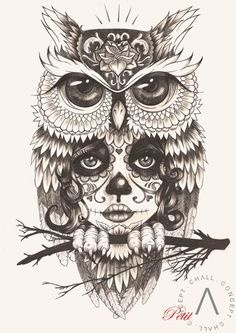 buho catrina by Petit Girl on http://chall-concept.fr/gallery.php?img=283