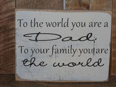 Greatest Dad..Solid wood Father's Day Sign.. Dad's Birthday. Father's Day