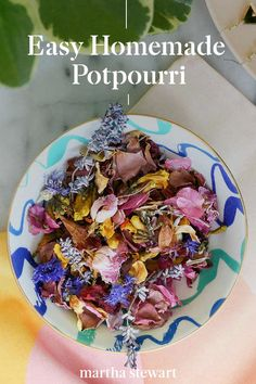 Kara Whitten, from A Kailo Chic Life, shares how to make easy homemade potpourri to bring the outdoors inside. Using flowers, herbs, and leaves foraged from the garden, plus your favorite essential oil, can give a natural, long-lasting aroma to your home. #marthastewart #crafts #diyideas #easycrafts #tutorials #hobby How To Make Homemade, Homemade Crafts, Home Crafts, Easy Crafts, Homemade Potpourri, Herbal Store, Coastal House Plans, Easy Home Decor, Homemaking