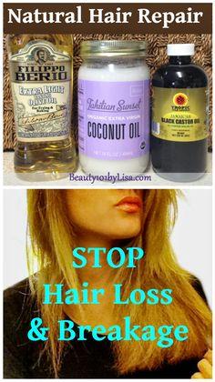 DIY NATURAL HAIR REPAIR - For Eyebrows AND Eyelashes too!! Hair Growth Treatment. Click PIN for details.