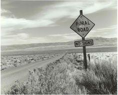Bob Kolbrener Photography Rural Road, OR, 2000 by Bob Kolbrener (Gelatin Silver Print)