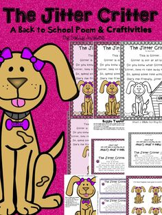 The Jitter Critter is the perfect poem to help your students forget about their first day Jitters. This 20 page packet includes 1 poem (two different versions) in color & b/w, 2 different baggie toppers, and 2 craftivities. This poem will make the first day/s fun for your students and help them forget about their jitters! $