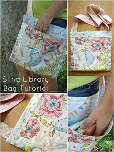 sling bag tutorial for the library | patchwork posse | easy sewing projects and quilt patterns #sew #bag