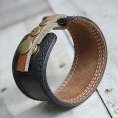 Marrone braccialetto Bracciale in pelle di orangeandprairie