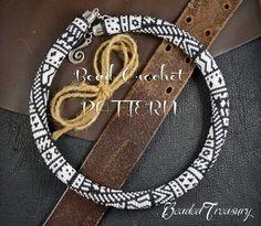 Bead crochet pattern necklace TRIBALIS / Bead por BeadedTreasury