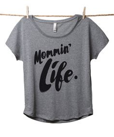 Heather Gray 'Mommin' Life' Slouchy Tee