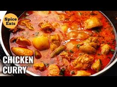 CHICKEN ALOO CURRY | CHICKEN CURRY WITH POTATOES | CHICKEN ALOO RECIPE - YouTube Chicken Gravy, Chicken Recipes, Chicken And Potato Curry, Aloo Curry, Eid Food, Aloo Recipes, Masala Spice, Indian Chicken