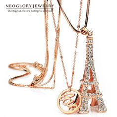 Find More Chain Necklaces Information about Neoglory Rhinestone Towel Design Fashion Chain Long Pendant Necklaces For Women Rose Gold Plated Jewelry Accessories 2014 LN1,High Quality Chain Necklaces from NEOGLORY JEWELRY on Aliexpress.com