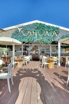 Ibiza Beach Club, Ushuaia, Argentina, beautiful seaside dining