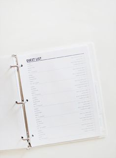 well – as you'd expect. i now have a wedding binder. cheesy or cliche as these may be — things are taking off with the wedding planning and because of our budget, hiring a planner…