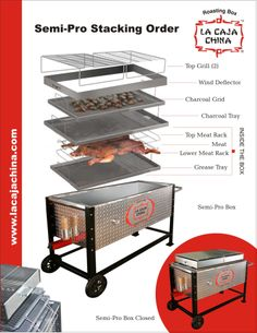 La Caja China Semi-Pro Tray Stacking instructions, and the Ash Disposal Unit assembly instructions. Check out our FREE weekly meal plans! Chef Perry http://www.simplysmartdinnerplans.com