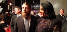 Daniel Bryan and Brie Bella at Hall of Fame🖤 Brie Bella, Nikki Bella, Daniel Bryan Wwe, Total Divas, Dancing With The Stars, Champion, Wrestling, Twins, Couples