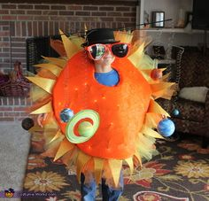 Kerrie: This is an original costume I came up with after my 8 year old decided he wanted to be The Solar System for Halloween this year. It is completely homemade...