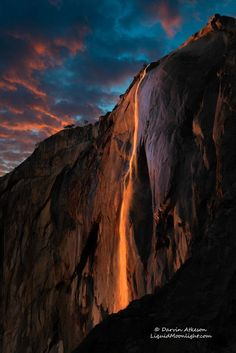 Horsetail Fall - Yosemite National Park by Darvin Atkeson