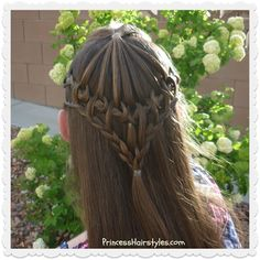 Pretty hairstyle for special occasions, umbrella lace tutorial.