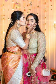 Sohini X Nikhil Shot by Vijay Eesam Indian Wedding Guest Dress, Indian Bridal, Saree Blouse Patterns, Saree Blouse Designs, Half Saree Designs, Indian Gowns Dresses, Saree Trends, Saree Look, Beautiful Saree