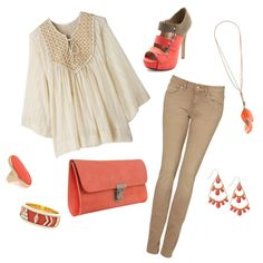 Coral Dream, created by miaslittleworld on Polyvore