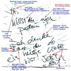 Handwriting Analysis TROUBLE TRAITS...