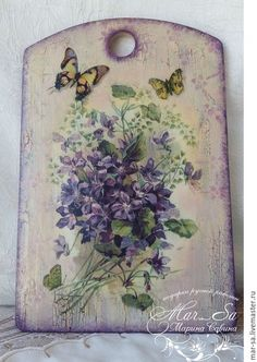 Pallet Painting, Tole Painting, Painting On Wood, Diy And Crafts, Arts And Crafts, Magazine Crafts, Branch Decor, Butterfly Wall Art, Shabby Chic Crafts