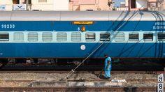 Sleeper Waggon am Bahnhof Chennai Egmore, Indien
