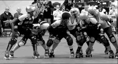 Dolly Rocket (#45 black) might have gotten a forearm after this gif for the hit that sent the Denver jammer out of bounds, but her waltz jump runback here is a thing of beauty. BAD v Denver, 2013...