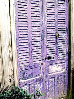 Lavender Cottage:  #Lavender louvered doors.