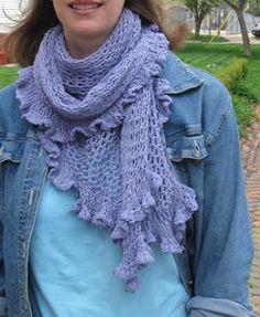 Seafoam Shawl Free Knitting Pattern from the Lace shawls Free Knitting Patterns Category and Knit Patterns