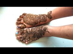 Quick Mehndi Designs on Legs Time Lapse video
