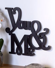 """WORD WALL ART """"YOU & ME"""" ROMANTIC WALL ART FOR COUPLES GREAT ON BEDROOM WALL #Unbranded #MODERN"""