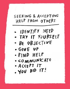 Seeking & Accepting Help From Others