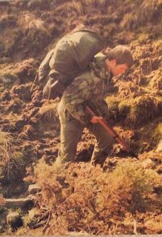22 SAS selection in the Brecon Beacons late 1970s (Note carriage of L42 rifle instead of SLR and no High Visibility marker on Bergan).