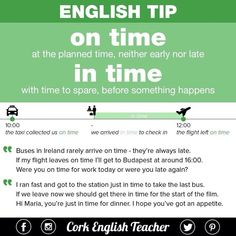 ENGLISH TYPE ON TIME / IN TIME