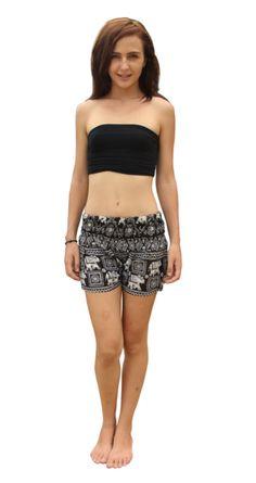 Black Elephant Hot Pants. I love these <3 #mystyle #elephantshorts #fashion #style