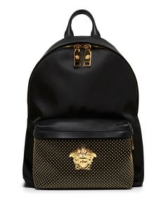 Versace Black Nappa Leather Backpack / Only Me 💋💚💟💖✌✔👌💙💚 xoxo Versace Handbags, Versace Bag, Versace Boots, My Bags, Purses And Bags, Fashion Bags, Fashion Backpack, Versace Backpack, Mode Hip Hop