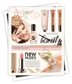 """""""#129 Fall Beauty - Nude Color Palette: 02/10/15"""" by pinky-chocolatte ❤ liked on Polyvore featuring beauty, Marc Jacobs, Bobbi Brown Cosmetics, Industrie, Sally Hansen, Nude by Nature and GALA"""