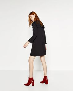 Image 1 of A-LINE DRESS WITH FRILLS from Zara