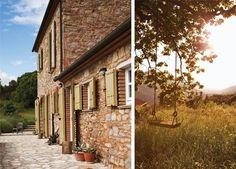 A restored Tuscan farmhouse