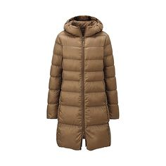 WOMEN Ultra Light Down Hooded Coat  E