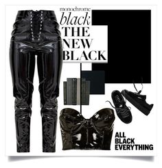 """""""Everything everything black"""" by anduu19 on Polyvore featuring Puma and Topshop"""