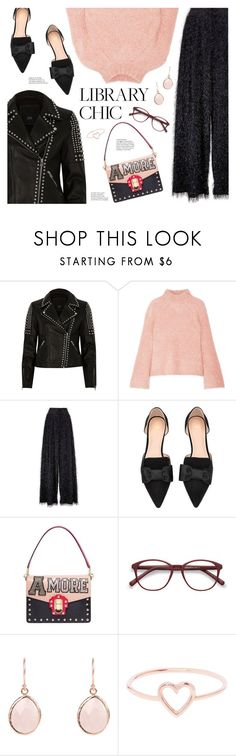 """""""Work Hard, Play Hard: Finals Season"""" by catchsomeraes ❤ liked on Polyvore featuring River Island, Ulla Johnson, Brunello Cucinelli, H&M, Dolce&Gabbana, EyeBuyDirect.com, Love Is, fringe, dolceandgabbana and leatherjackets"""