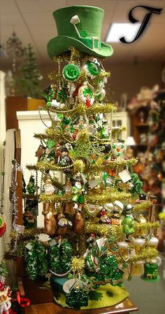 Patrick's Day Decorations & Ornaments at Traditions Year-Round Holiday Store. Christmas Decorations Sale, St Patrick's Day Decorations, Christmas Trees, Xmas Tree, Merry Christmas, Holiday Store, Holiday Fun, Holiday Decor, Saint Patrick's Day