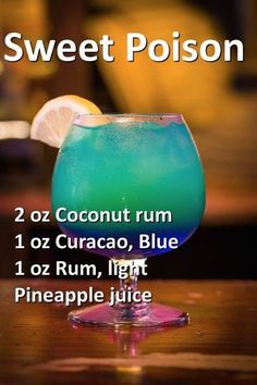 Colorful drinks Wonder what it would look like in one of those light up glasses #rumdrinks