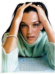 US Bazaar October 1994 Close Knit Ph: Mario Testino Model: Shiraz Tal Hair: Marc Lopez Makeup: Tom Pecheux