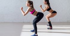 Tough stamina training for two young stunning fitness models doing squats t Cardio, Hiit, Losing Weight Tips, Lose Weight, Weight Loss, Stamina Training, Body Squats, Healthy People 2020 Goals, How To Slim Down