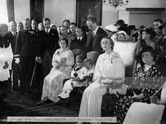 Christening of Archduchess Alexandra of Austria on Sonnberg Castle in Lower Austria. Present guests: Otto of Habsburg, Zita of Habsburg and others. Adele, Old King, Kaiser, High Society, Ferdinand, Queen Victoria, King Queen, Christening, Austria