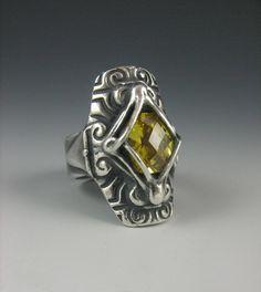 I made this ring while watching Star Wars so I named it Princess Amidala.  --Lisa Barth