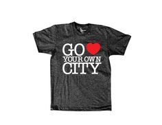 Reason Clothing | Go Heart Your Own City | Go Love Your Own City - Charcoal