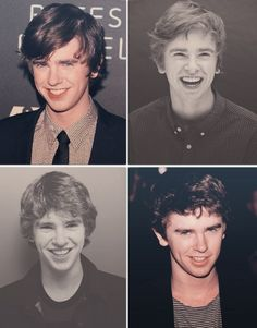 Freddie Highmore's smile in the 3rd pic reminds me of Sherlock (Benedict Cumberbatch)